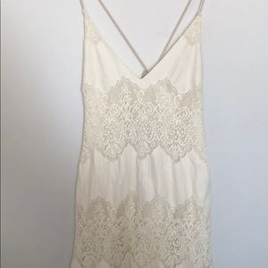 Ivory laced maxi dress
